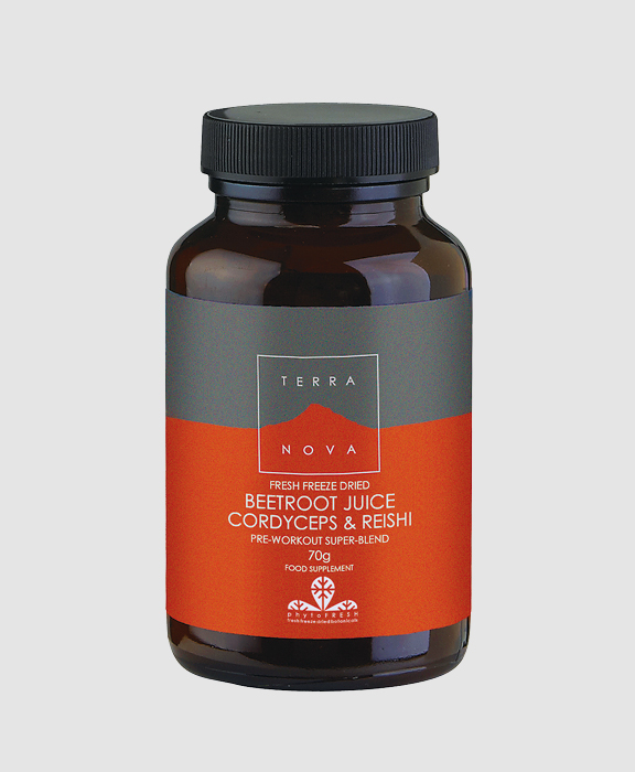 TERRANOVA<br/> Beetroot Juice, Cordyceps &#038; Reishi Super-Blend Powder 70g size